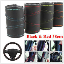 Universal 38cm Micro Fiber Leather Hand Sewing Auto Car Steering Wheel Cover Kit