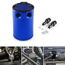 Universal Compact Baffled 2-Port Aluminum Blue Oil Catch Reservoir Can Tank