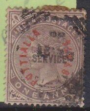 (Lu114) 1882 India 1A purple O/P post Itale in red