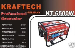 Kraftech Germany – KT 6500W * Petrol Generator * Business / Lrg House. Perfect!