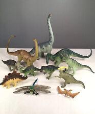 🔴Vtg Carnegie Safari Dinosaur Lot Diplodocus Brachiosaurus Apatosaurus Rex 1988