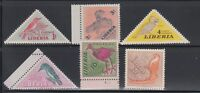 Liberia 1953 Birds Sc 341-346 complete mint never hinged