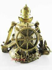"Beautiful Russian bronze bell. ""Navy insignia"" Anchor Decorative Handmade #19"