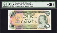 Canada 20 Dollars 1979 BC-54c-i Pick-93c GEM UNC PMG 66 EPQ