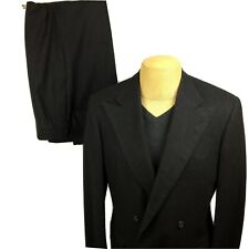 VTG POLO RALPH LAUREN Grey Charcoal Wool Double Breasted Classic Suit 40