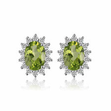 Jewelrypalace 2.1ct Genuine Peridot Earrings Stud 925 Sterling Silver ON SALE