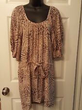 Rebecca Taylor 100% Silk Drawstring Pocket Dress Sz 12 c038b5cd1