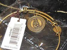 Bella Ryann Expandable Bracelet St Christopher Charm Gold Color             *