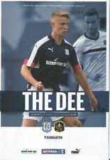 Scottish Cups Teams C-E Dundee Football Programmes