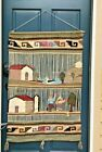 Vintage Mexico Peru Wool Wall Hanging Farm Seagull Tapestry Wallhanging
