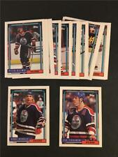 1992/93 Topps Edmonton Oilers Team Set 21 Cards