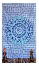 Twin Mandala Tapestry India Wall Hanging elephant  Bedspread Throw Auction