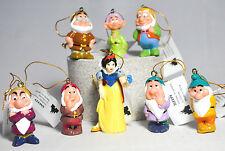 Snow White & Seven Dwarfs - Set of Eight Figures - Disney - Holiday Ornaments