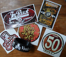 HOT ROD RUST OLD SCHOOL STICKER PACK, custom, panel van, camper, rusty, patina