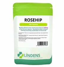 Rosehip 2000mg Capsules Lindens antioxidants including anthocyanin 100 pack