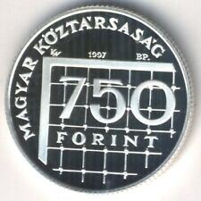 Unusual Denomination! Hungary 750 Ft 1998 Proof Football (Soccer) World Cup-1998