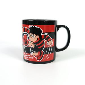 Vintage 1990 Dennis The Menace And Gnasher Mug Beano Collectable Cup Mug Black