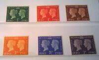 Great Britain SC # 252-257 * SG 479-484 * 1940 Nice KGVl Mint Set  Lot kg40