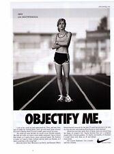 "Classic Nike Women's Running ""Objectify Me""  Print Advertisement"