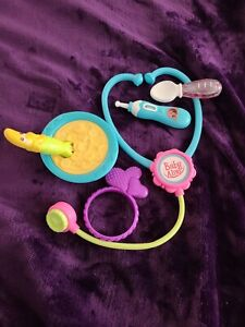 Baby Alive Doll Accessories Banana BOWL/ 2 SPOON/RATTLE/STETHESCOPE/ THERMOMETER