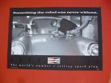 James Dean autographed Champion Spark Plug photo poster Porsche 550