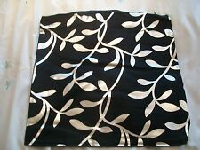 "2 Black cushion cover with silver design 15"" square - zip fastener FREE POSTAGE"