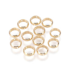 20 Brass Hollow Ring Metal Beads Gold Plated Frames Smooth Tiny Loose Spacer 8mm