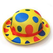 Funny YELLOW JUMBO FOAM CLOWN DERBY HAT Newsboy Costume Cap Circus Polka Dot