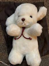 """Rare Vintage - Gund White Smooch - Puppy Dog- 11 1/2"""" - #1333 - 1982 - Rattle"""