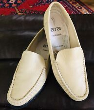 Mens 8 Ara By Designer Echt Leder Cream Mokassin Leather Loafers Driving Shoes.
