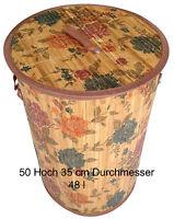 Bambus Wäschekorb Aufbewahrungsbox Wäschetruhe Wäschebox Wäschesammler KorbLN45