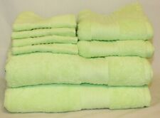 Ralph Lauren Greenwich Solid Green Eight Piece Bathroom Towel Set New