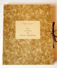 Les contes de cousin Francisco, Baragnès, Henri Pierre Gourry, lettre autographe