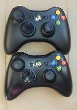 2x Controller joystick pad per xbox 360 wireless microsoft originale nero