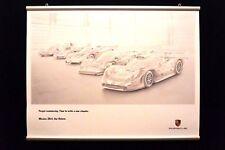 """Porsche Poster """"Forget reminiscing, Mission 2014"""""""