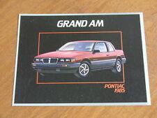 1985 Pontiac Grand AM original Canadian 8 page brochure