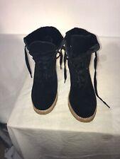 Ugg Australia Ladies Mid Calf Black Suede Boots Uk 5.5 Ref Ba01