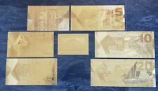 More details for gold kuwaiti bank notes. set of 6 with coa. 99.9% pure 24 carat gold.