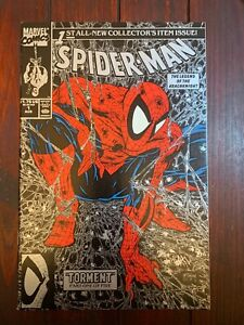 Spider-Man #1 1990 Amazing Todd McFarlane Key Silver/Black 1st Print NM+ 9.6