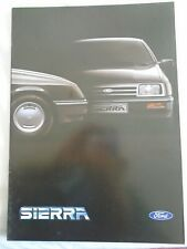 Ford Sierra Export range brochure Aug 1982 English text