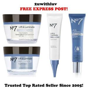 BOOTS NO 7 LIFT & LUMINATE TRIPLE ACTION DAY NIGHT EYE CREAM SERUM FREE EXPRESS!