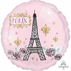A Day in Paris Party Supplies Eiffel Tower Oui Oui 45cm Foil Balloon