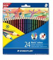 Staedtler Noris Club Colouring Pencils - Hexagonal - Wallet of 24