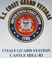 US COAST GUARD STATION CASTLE HILL-RI*COAST GUARD VETERAN EMBLEM*SHIRT