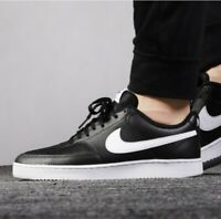 SIZE 15 MEN'S NIKE COURT VISION LOW WHITE / BLACK CD5463-001 SNEAKERS CASUAL