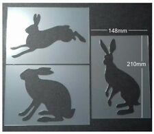 Shabby Chic Stencil pack A5 (210x148mm) Hare rabbit selection Plastic sheet