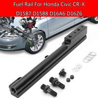 Black High Volume Fuel Rail Kits For Honda Civic CR-X D15B7 D15B8 D16A6 D16Z6 !