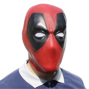 Deadpool Cosplay Kostüm Maske Latex Full Head Helm Halloween Maske Unisex