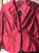 Lane Bryant Jacket; Red; NWT, size 16 ($99.50).