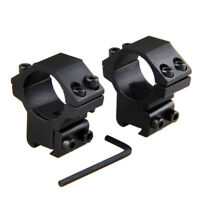 """Scope Rings 1"""" Dia For 11 cal For Air Rifle 3/8 Inch Dovetail Mount Rail 11mm"""